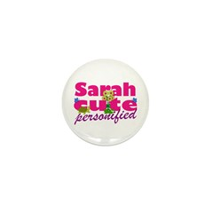 Cute Sarah Mini Button