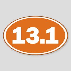 13.1 burnt orange Sticker (Oval 10 pk)
