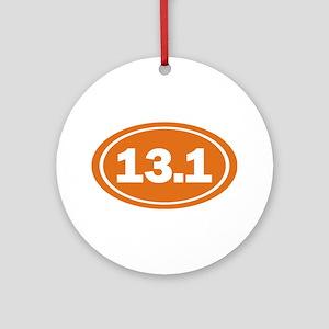 13.1 burnt orange Ornament (Round)