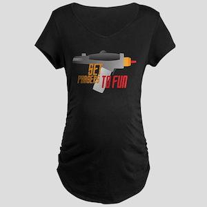 Set Phasers to Fun Maternity Dark T-Shirt