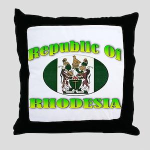Republic of Rhodesia Throw Pillow