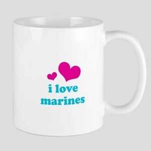 i love marines (pink/blue) Mug