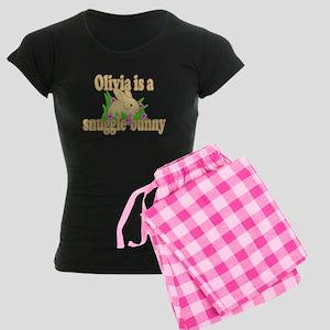 Olivia is a Snuggle Bunny Women's Dark Pajamas