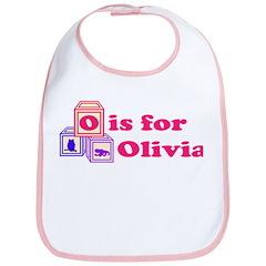 Baby Name Blocks - Olivia Bib