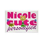 Cute Nicole Rectangle Magnet
