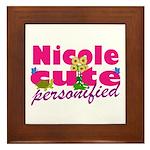 Cute Nicole Framed Tile