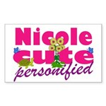 Cute Nicole Sticker (Rectangle)