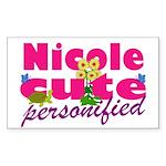 Cute Nicole Sticker (Rectangle 50 pk)