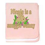 Nicole is a Snuggle Bunny baby blanket