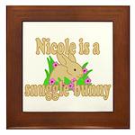Nicole is a Snuggle Bunny Framed Tile
