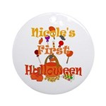 First Halloween Nicole Ornament (Round)