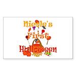 First Halloween Nicole Sticker (Rectangle)