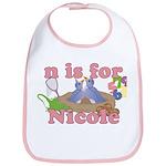 N is for Nicole Bib