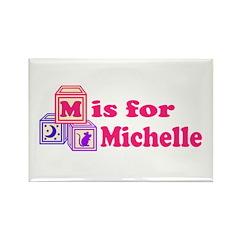 Baby Blocks Michelle Rectangle Magnet