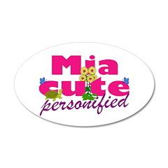 Cute Mia 22x14 Oval Wall Peel