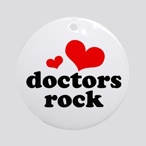 doctors rock (red/black) Ornament (Round)