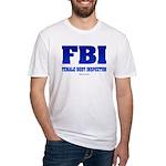 FBI Female Body inspector Fitted T-Shirt