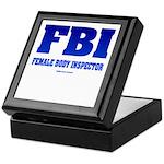 FBI Female Body inspector Keepsake Box