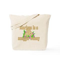 Marissa is a Snuggle Bunny Tote Bag