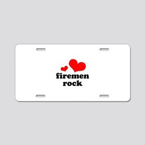 firemen rock (red/black) Aluminum License Plate