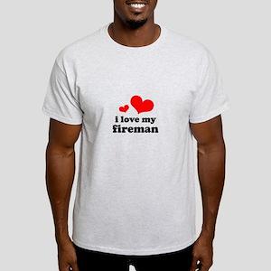 i love my fireman (red/black) Light T-Shirt