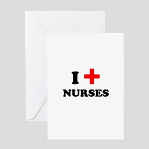 i heart nurses (red/black) Greeting Card