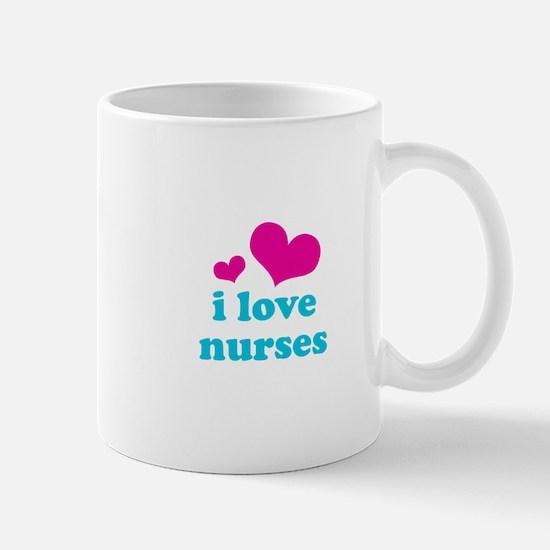 i love nurses (pink/blue) Mug