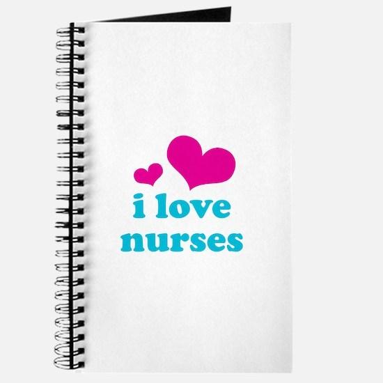 i love nurses (pink/blue) Journal