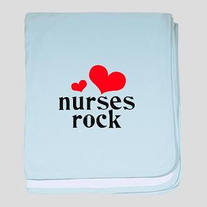 nurses rock (red/black) baby blanket