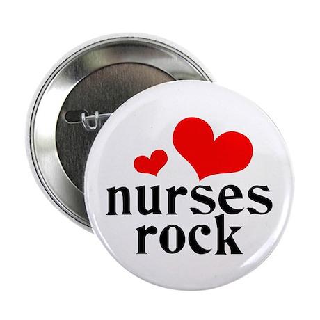 "nurses rock (red/black) 2.25"" Button (10 pack)"
