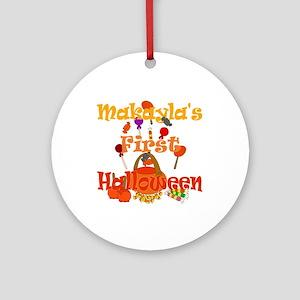 First Halloween Makayla Ornament (Round)