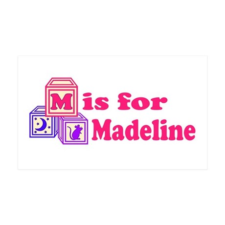 Baby Blocks Madeline 38.5 x 24.5 Wall Peel