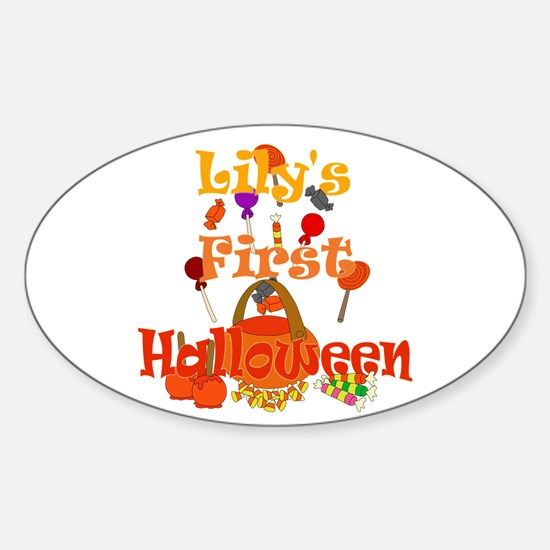 First Halloween Lily Sticker (Oval)