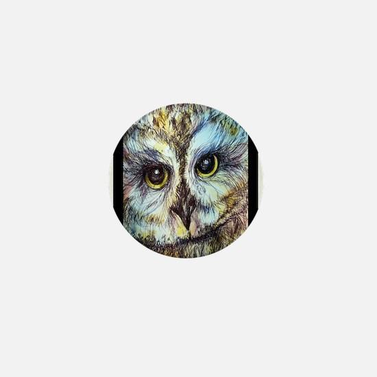 Owl, nature lovers, stunning, Mini Button