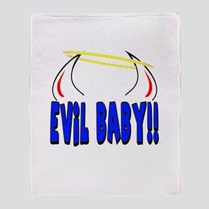 Funny Evil Baby Throw Blanket