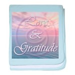 Love and Gratitude baby blanket