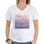 Love and Gratitude Women's V-Neck T-Shirt