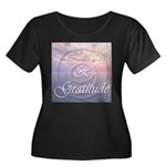 Love and Gratitude Women's Plus Size Scoop Neck Da