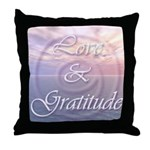 Love and Gratitude Throw Pillow