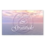 Love and Gratitude Sticker (Rectangle 10 pk)