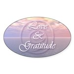 Love and Gratitude Sticker (Oval 10 pk)