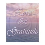 Love and Gratitude Throw Blanket