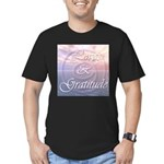 Love and Gratitude Men's Fitted T-Shirt (dark)