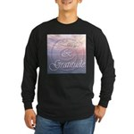 Love and Gratitude Long Sleeve Dark T-Shirt