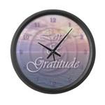 Love and Gratitude Large Wall Clock