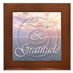 Love and Gratitude Framed Tile
