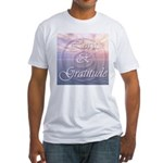 Love and Gratitude Fitted T-Shirt