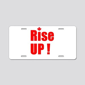 Rise UP! Aluminum License Plate