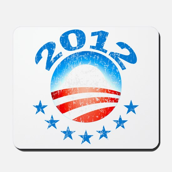 Obama 2012 with Stars Mousepad