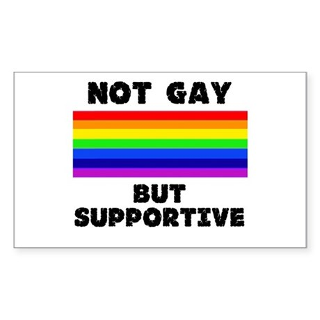 Not Gay Sticker (Rectangle)